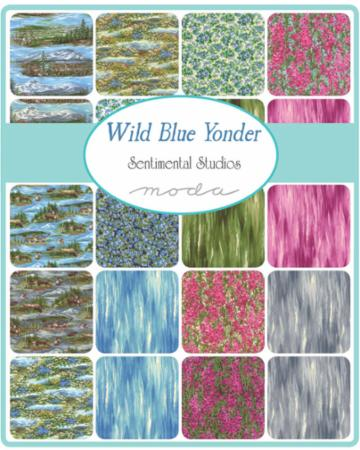 Moda Charm Pack - Wild Blue Yonder by Sentimental Studios