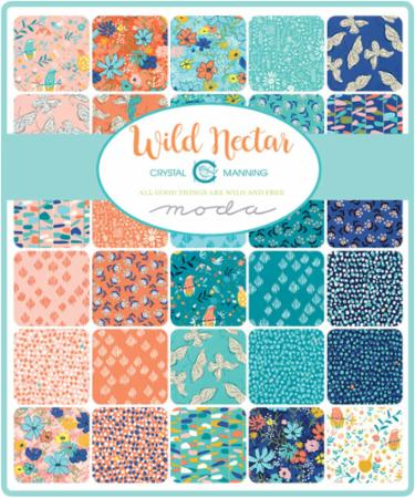 Moda Fat Eighth Bundle - Wild Nectar by Crystal Manning