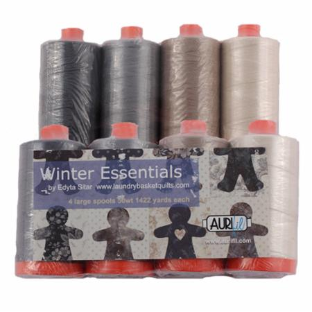Winter Essentials 50wt Aurifil 4 Large Spools
