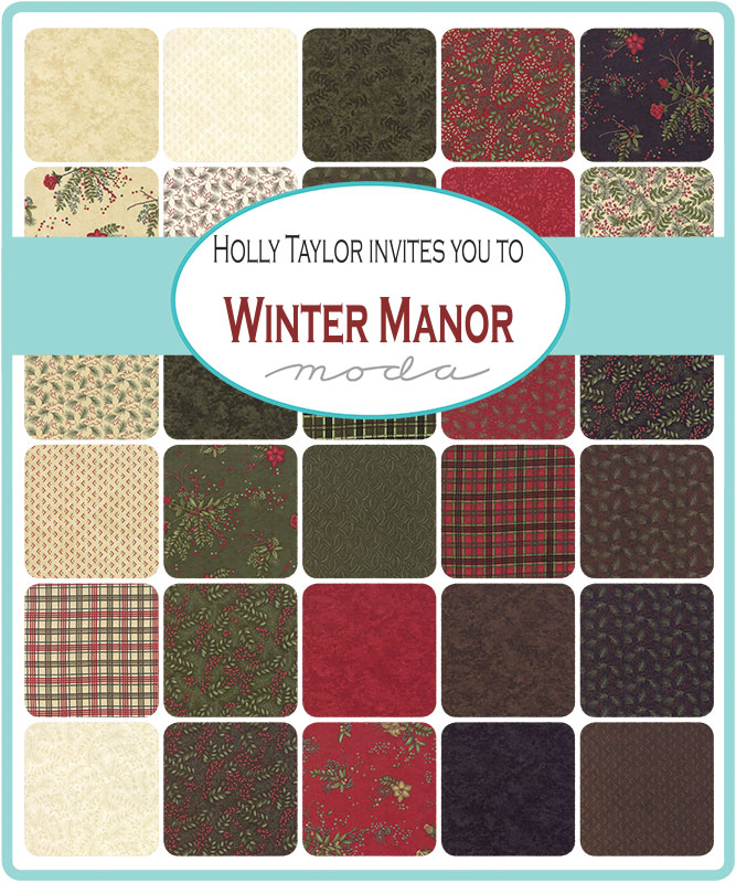 Moda Fat Eighth Bundle - Winter Manor by Holly Taylor