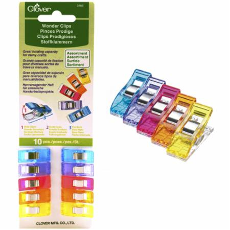 Wonder Clips Assorted Colors 10ct
