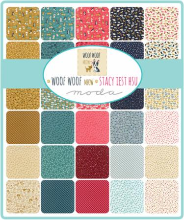 Moda Fat Eighth Bundle - Woof Woof Meow by Stacy Iest Hsu
