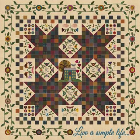 Moda Quilt Kit - Wool & Needle V by Primitive Gatherings